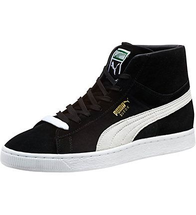 puma high tops suede classic mid menu0027s sneakers: in 1968, the original puma basket was  launched HQPUVNT