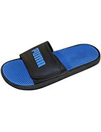 Puma sandals puma menu0027s adjustable velcro logo slide sandal USBRWEF