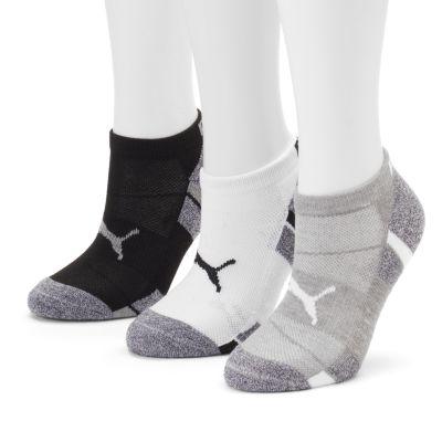 puma socks womenu0027s puma 3-pk. cushioned low-cut socks OLSQDPP