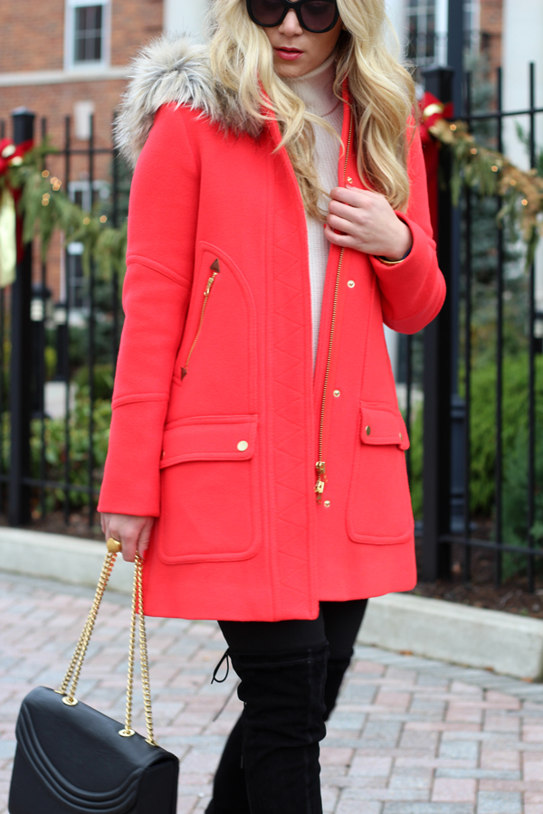 red coat ... red-coat-with-fur ... YZFFDVU