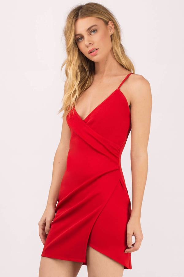 red dress ... feel the night red bodycon dress ... MIEKOWB