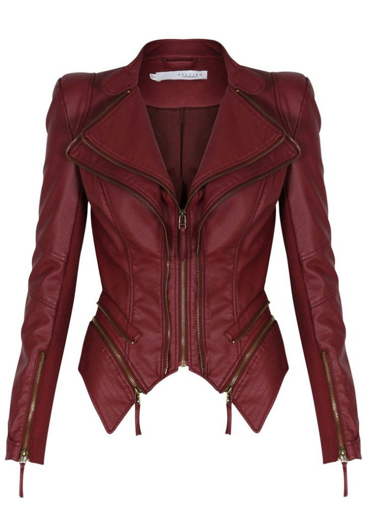 Red Leather Jacket forever unique – pulp – berry red leatherette jacket ICMNZPQ