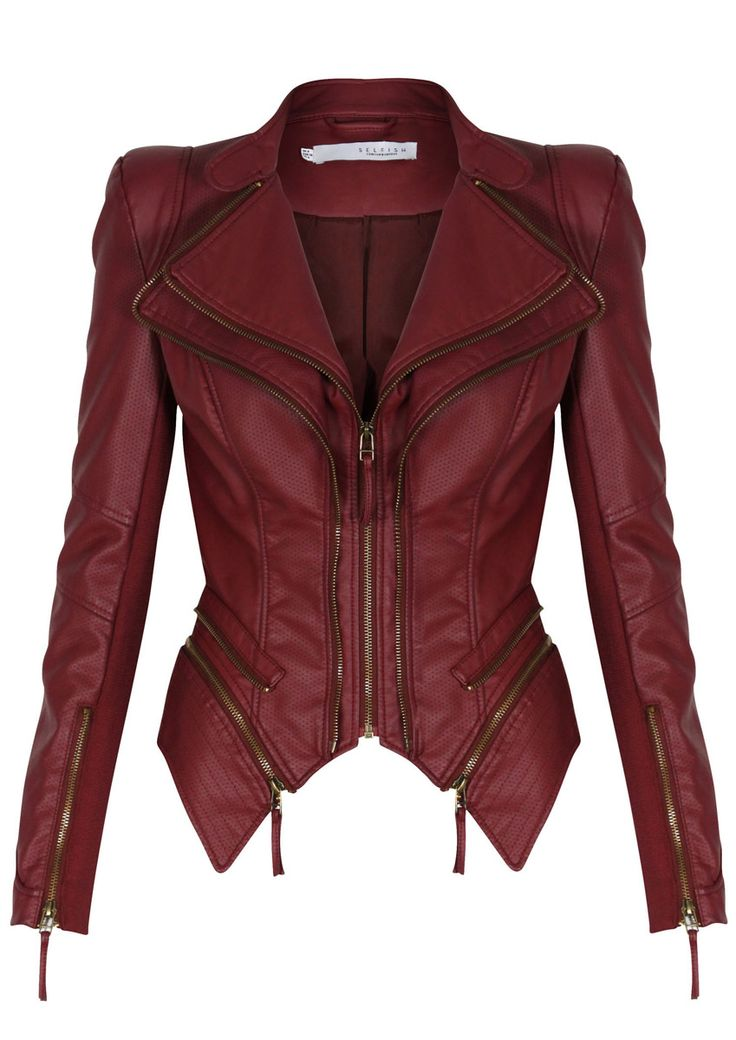 Red Leather Jacket forever unique - pulp - berry red leatherette jacket ICMNZPQ