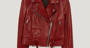 Red Leather Jacket red leather jacket KYKREIP