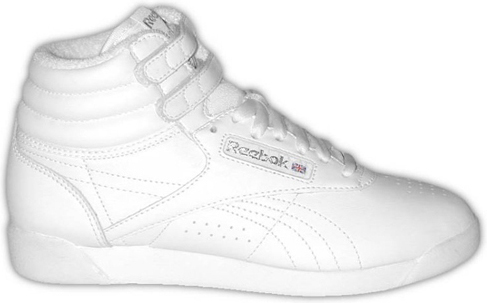 reebok high tops like thiller, the reebok high top (aka freestyle) is celebrating its 25th  anniversary RBOQCQL