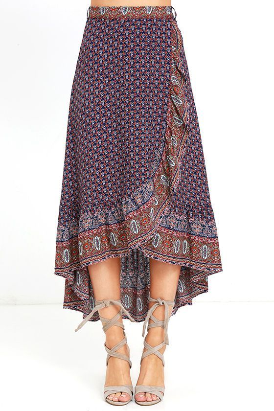 The beautiful and ethnic wrap skirt for that simple look