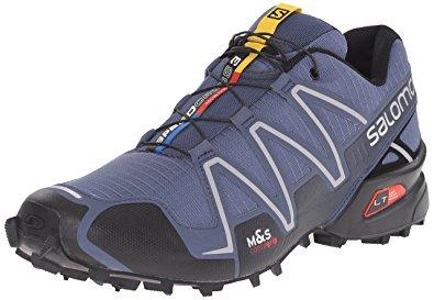 salomon running shoes salomon menu0027s speedcross 3 trail running shoe, slate blue/black/deep blue, ABMKIFY