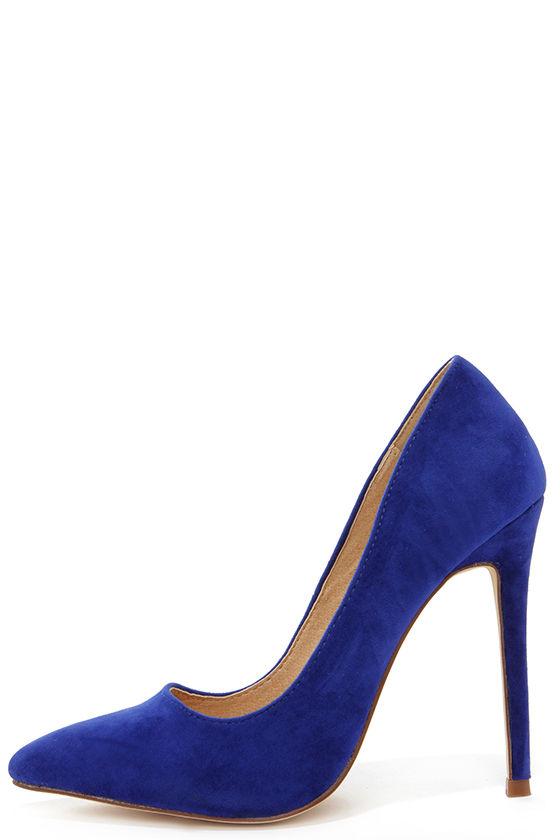 sexy blue pumps - pointed pumps - royal blue heels - $30.00 YTLRJHC