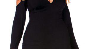 sexy plus size clothing plus size open shoulder party dress LQYZAEC