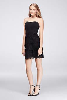 short black dresses short sheath strapless graduation dress - davidu0027s bridal NTAMOJD