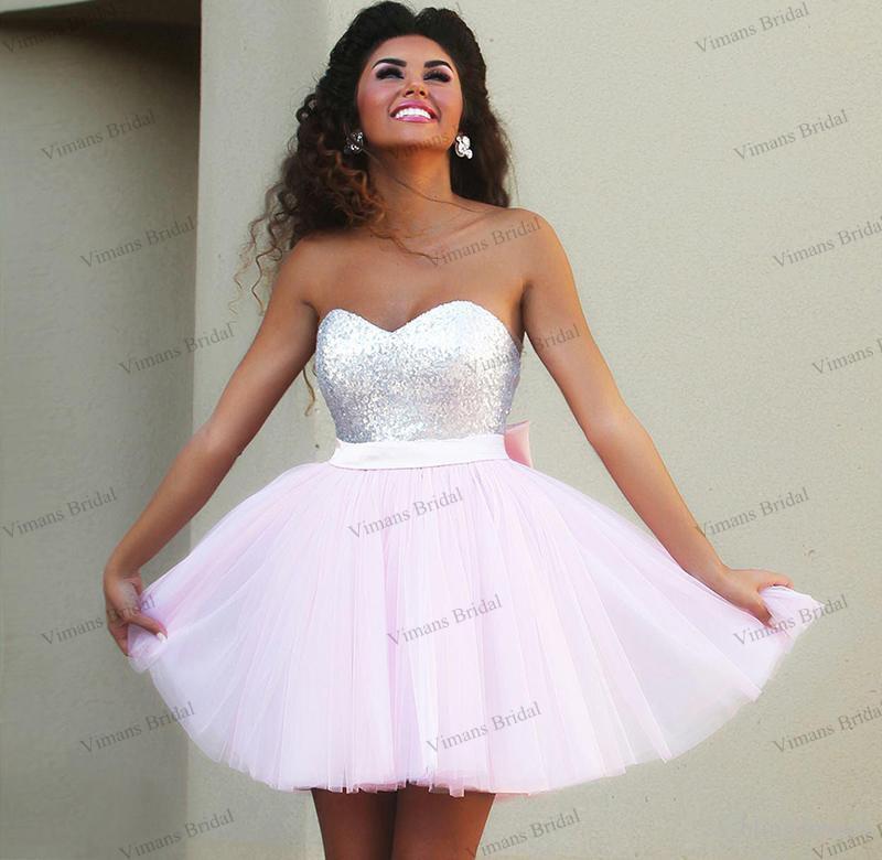 Short Prom Dress aliexpress.com : buy cheap hot sale short prom dresses sweetheart top  sequins tulle GKIJPJI