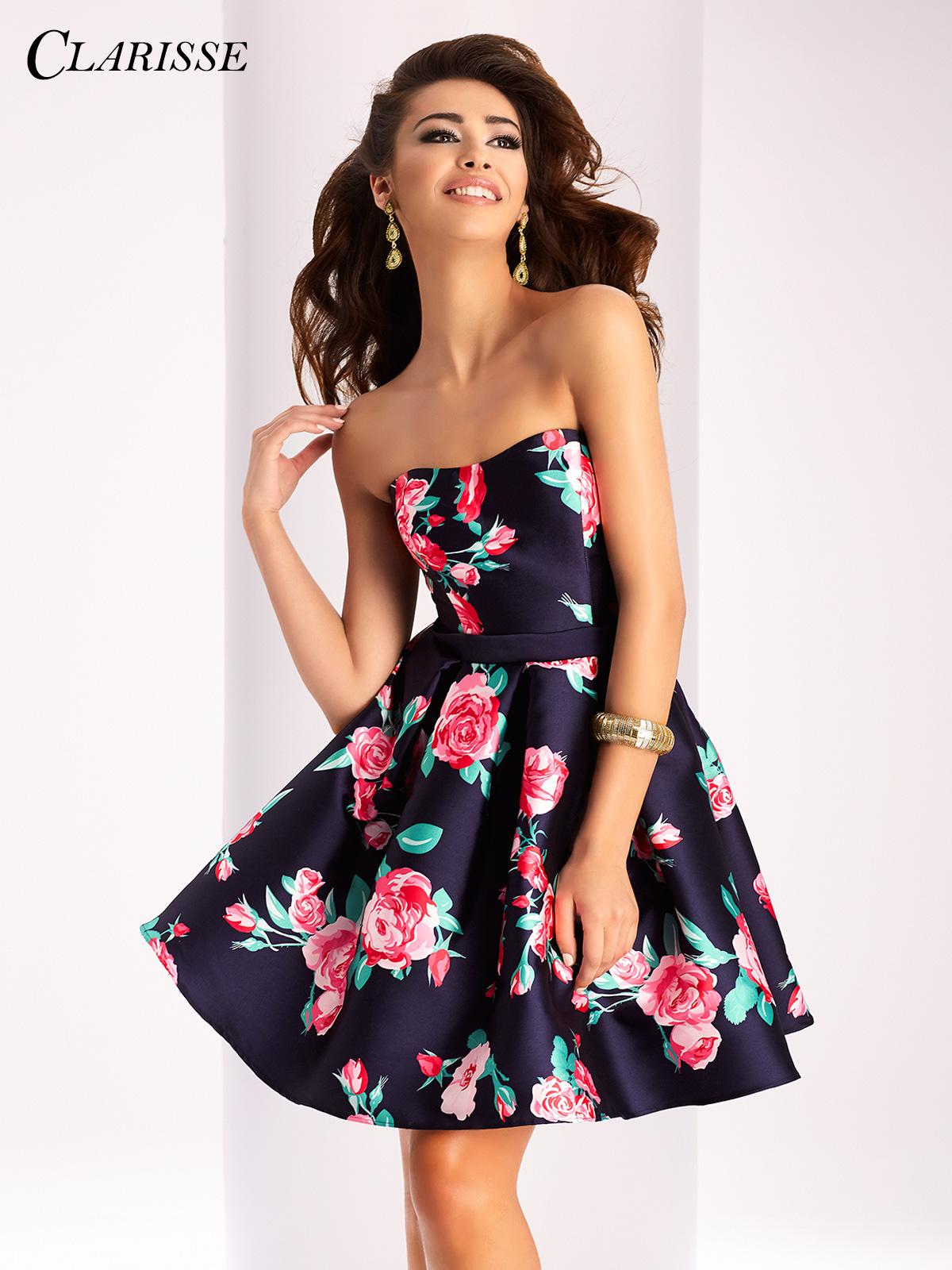 Short Prom Dress clarisse short floral dress 3028 OAECIGD