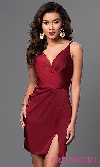 Short Prom Dress faviana short satin ruched dress - promgirl SQFRQLQ