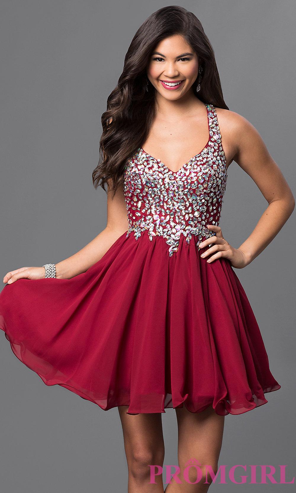 Short Prom Dress hover to zoom DMKZXNL