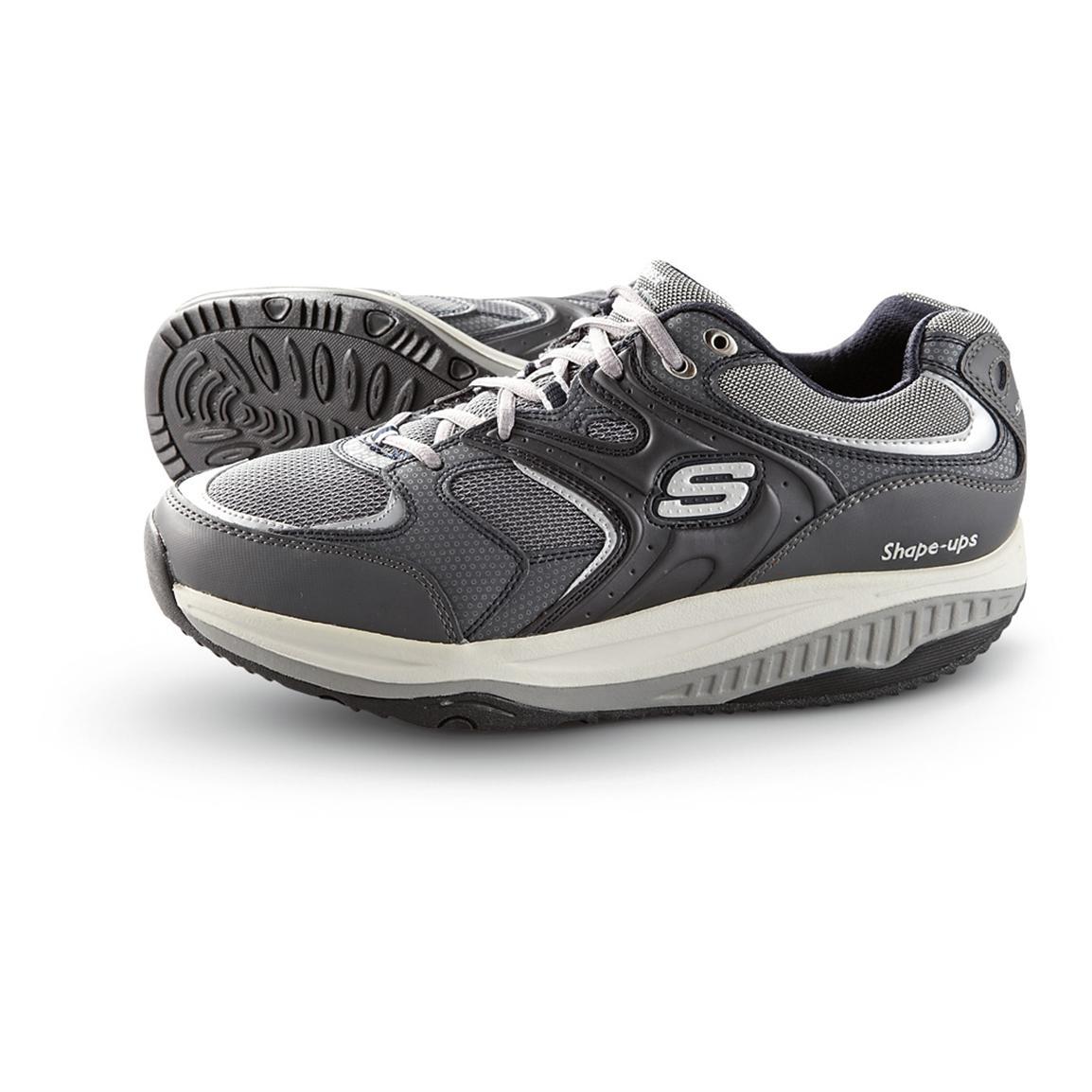skechers walking shoes menu0027s skechers® shape-ups® xt™ talas walking shoes, navy / silver XJOOXNZ