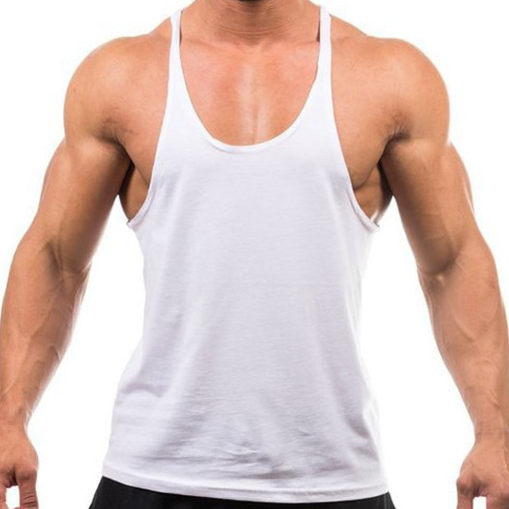 sleeveless shirts hot new 2017 men tank top cotton soft fitness vest for men bodybuilding GFPXKRT