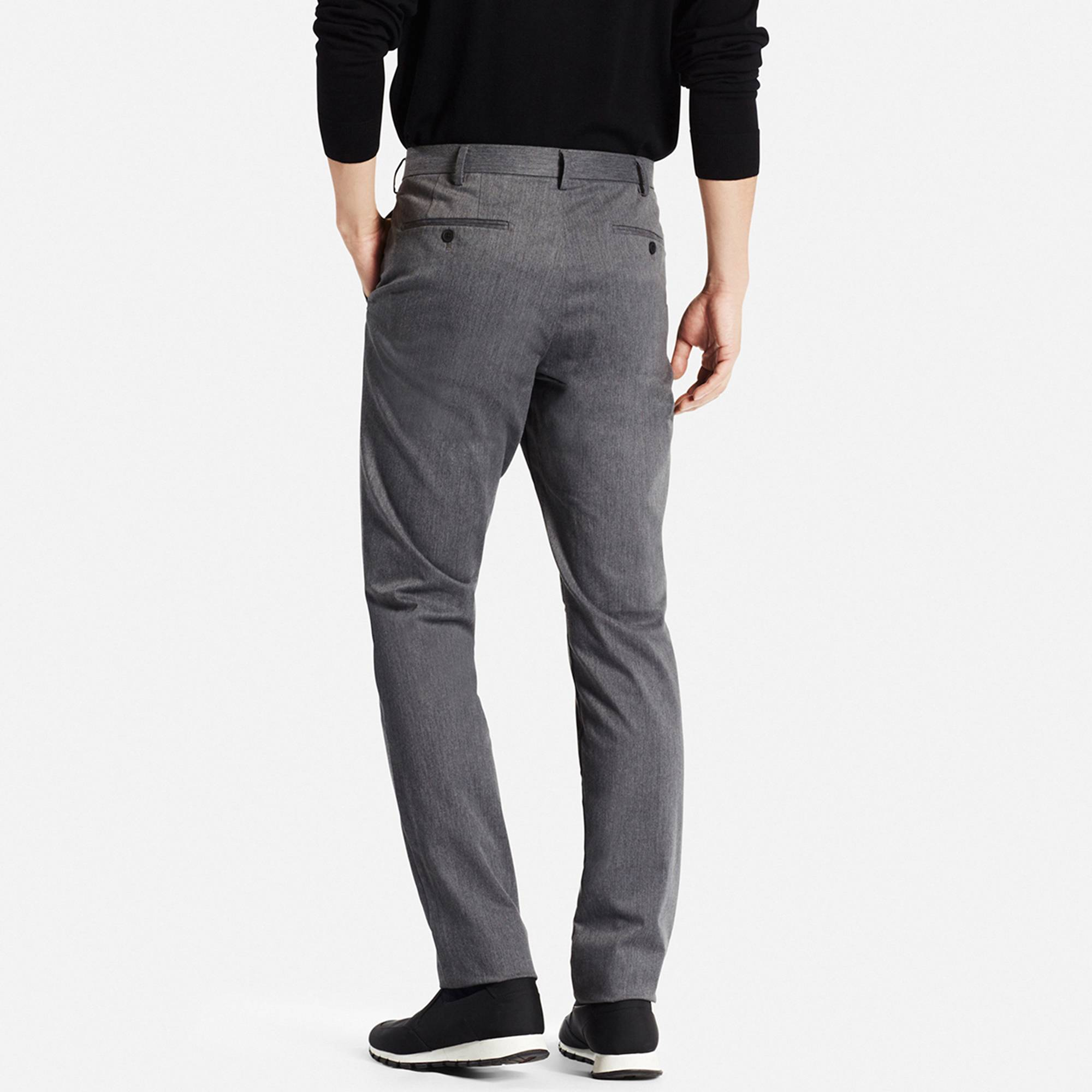 slim fit pants men slim fit chino flat front pants, dark gray, small CYKOSNG