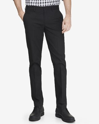 slim fit pants skinny innovator black cotton dress pant | express CDQTCEA