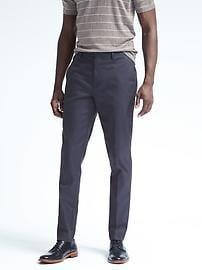 slim fit pants slim solid non-iron stretch cotton pant HBGNWQM
