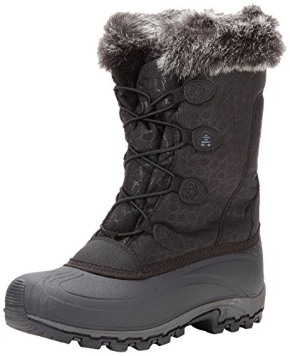 snowboots kamik womenu0027s momentum snow boot,black,6 ... FHQQRDE