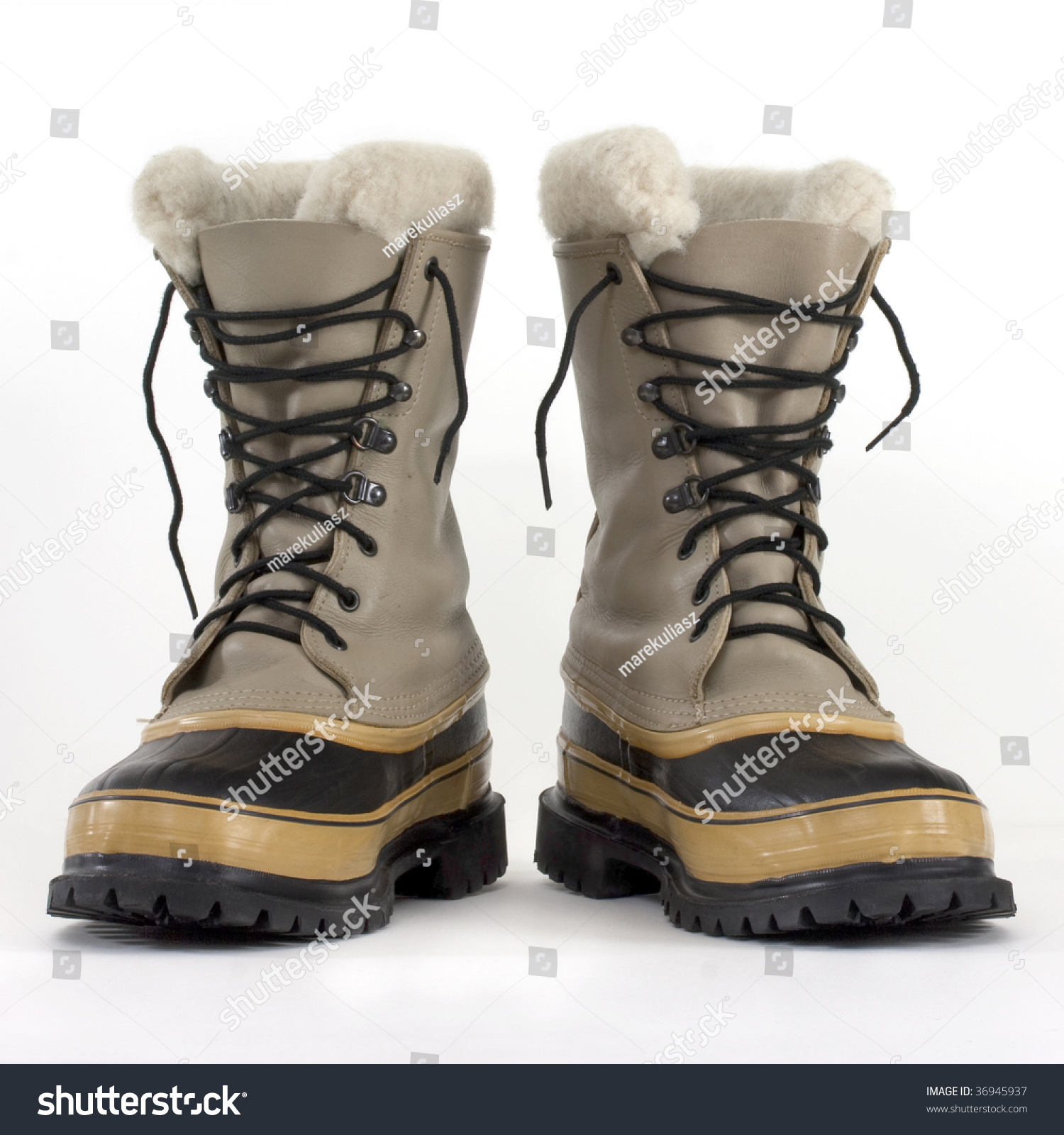 snowboots pair heavy snow boots on white stock photo 36945937 - shutterstock MRPATDG