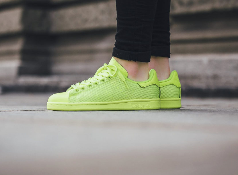 solar yellow shines on this adidas originals stan smith TPTYVRA