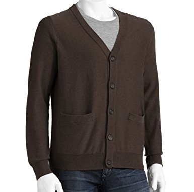 sonoma mens cardigan 100% cotton sweater large tall lt brown YHKMSSS