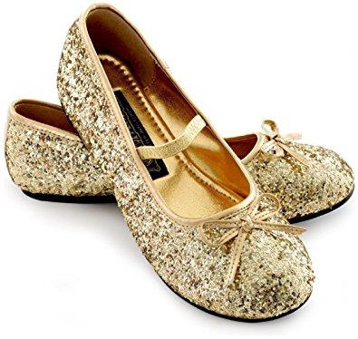 sparkle ballerina shoes child (gold) - large (2/3) CFYNVQT