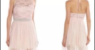 speechless dresses gorgeous juniors blush lace halter social dress GUNDYWT