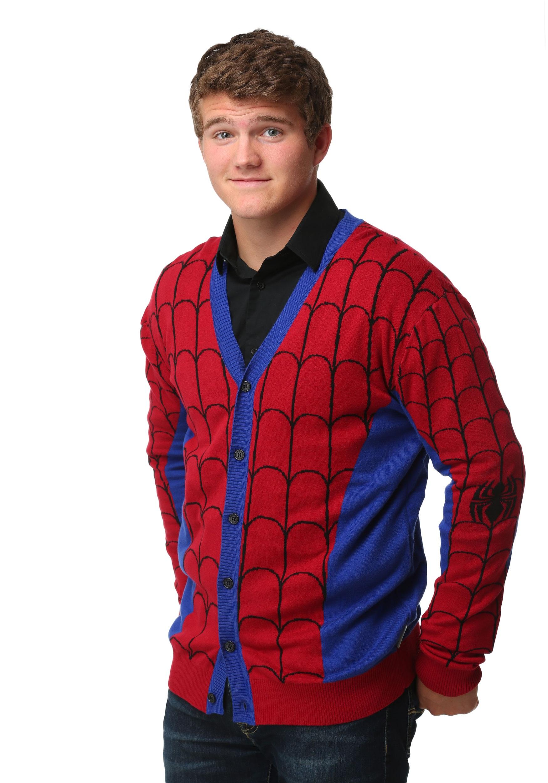 spiderman mens cardigan SMCTPMH