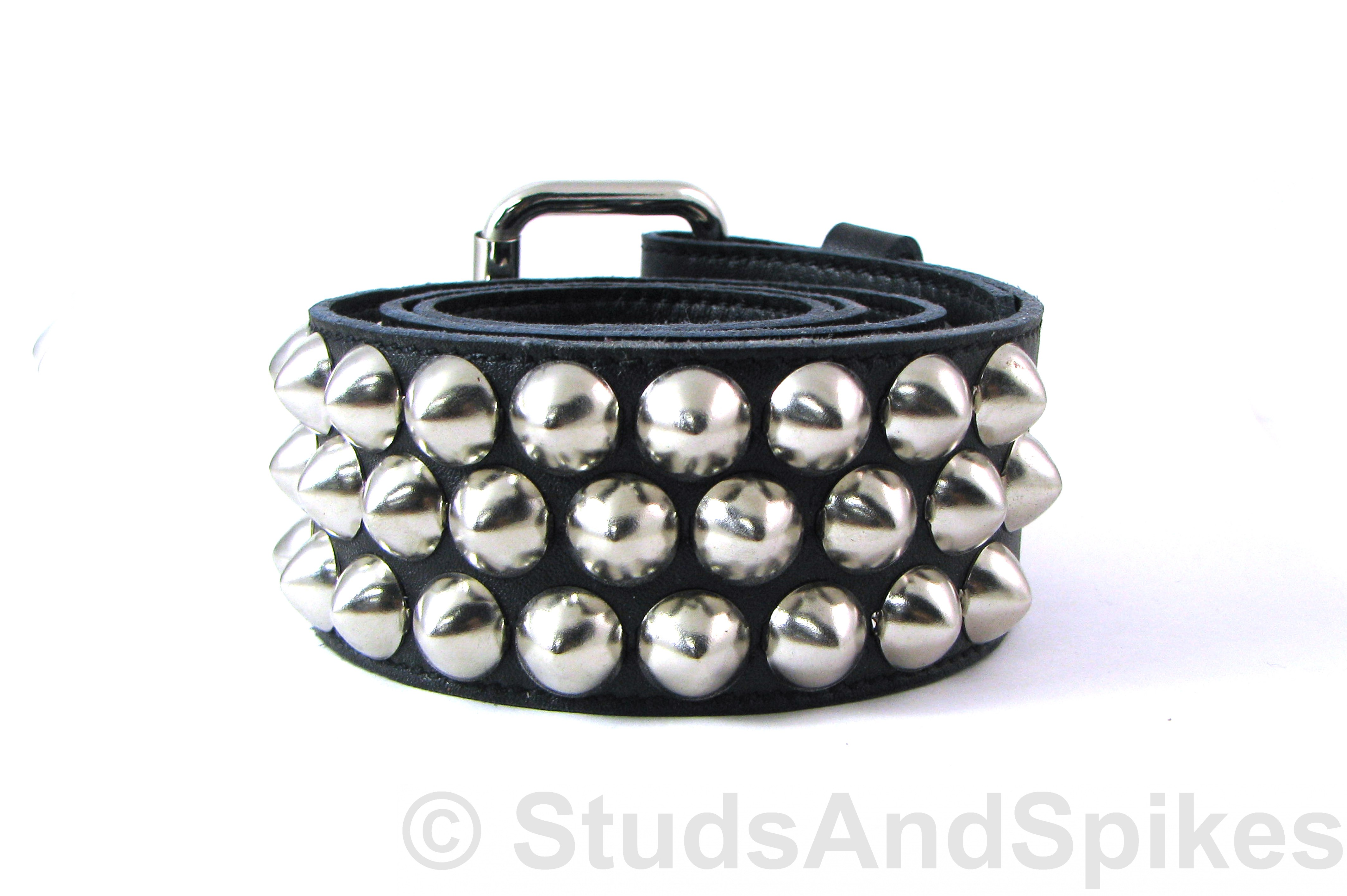 studded belt belt - 3 row silver 1/2 AXJMGRR