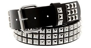studded belt classic pyramid studded leather belt (size large 36-40 inch waist) NXFFQNB