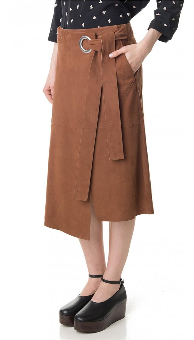 suede wrap skirt WAYGTPW