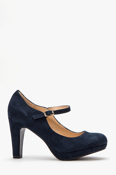 suedette ankle strap shoes WQBNTFC