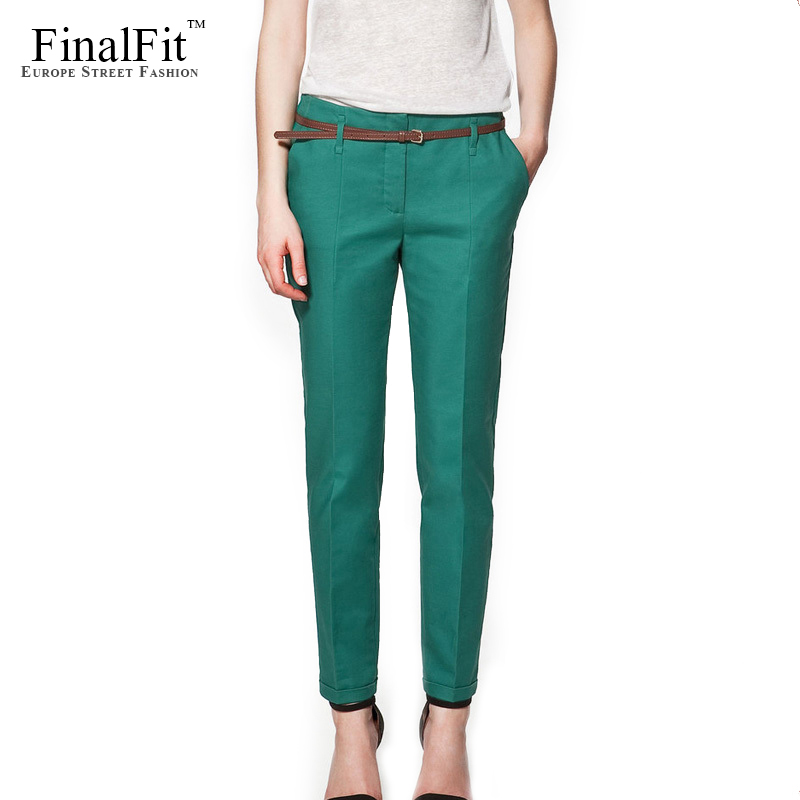 summer pants finalfit pencil casual pants women, spring summeru0026autumn trousers with  belt(china (mainland) OFHQITO