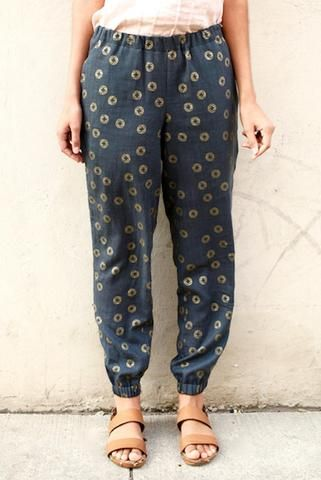 summer pants luna pants sewing pattern pdf PFWYHVU