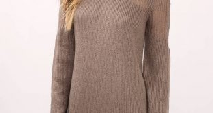 sweater dress knit wit green day dress ... JOFJNCB