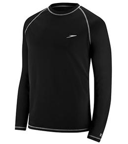 swim shirts speedo menu0027s easy long sleeve swim shirt QWVHWJI