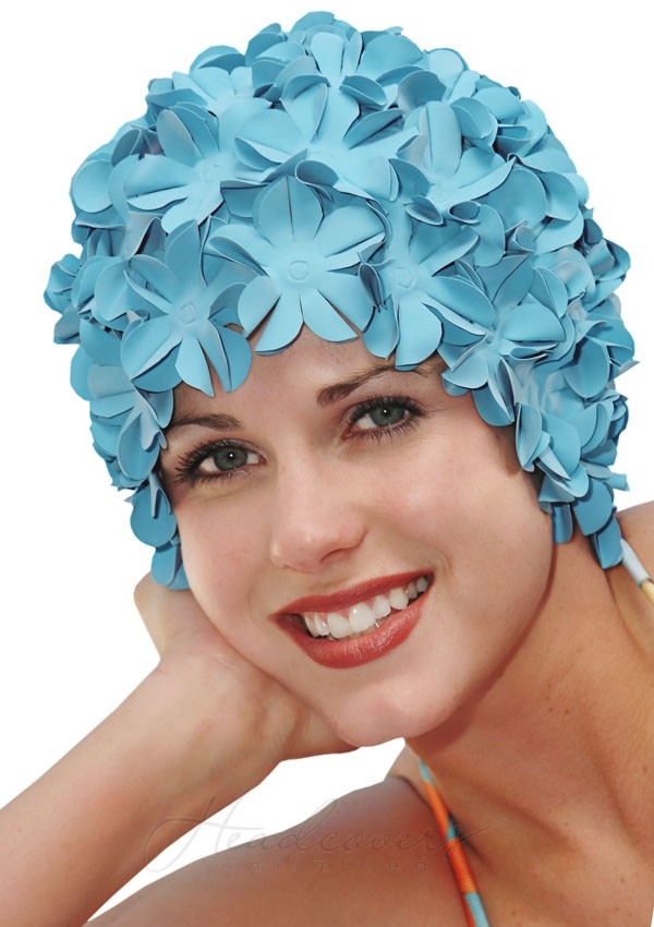 swimming hats swim cap - retro petal flower swimming caps - fun swim cap | headcovers.com QDHQEUR