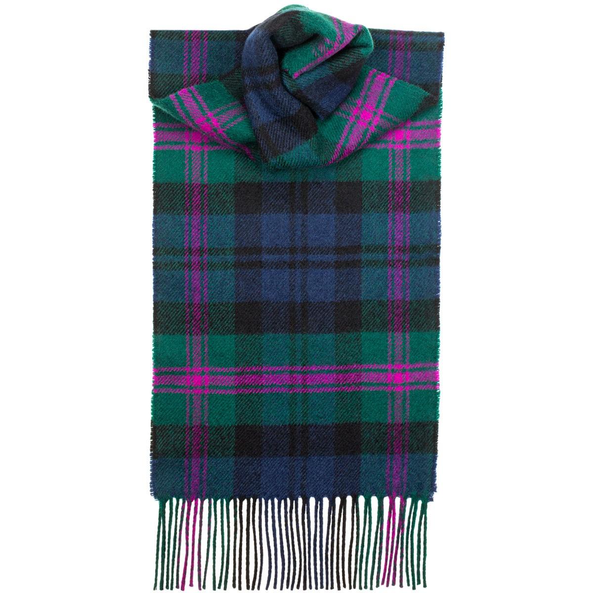 tartan scarves baird modern tartan lambswool scarf WQAEKUM