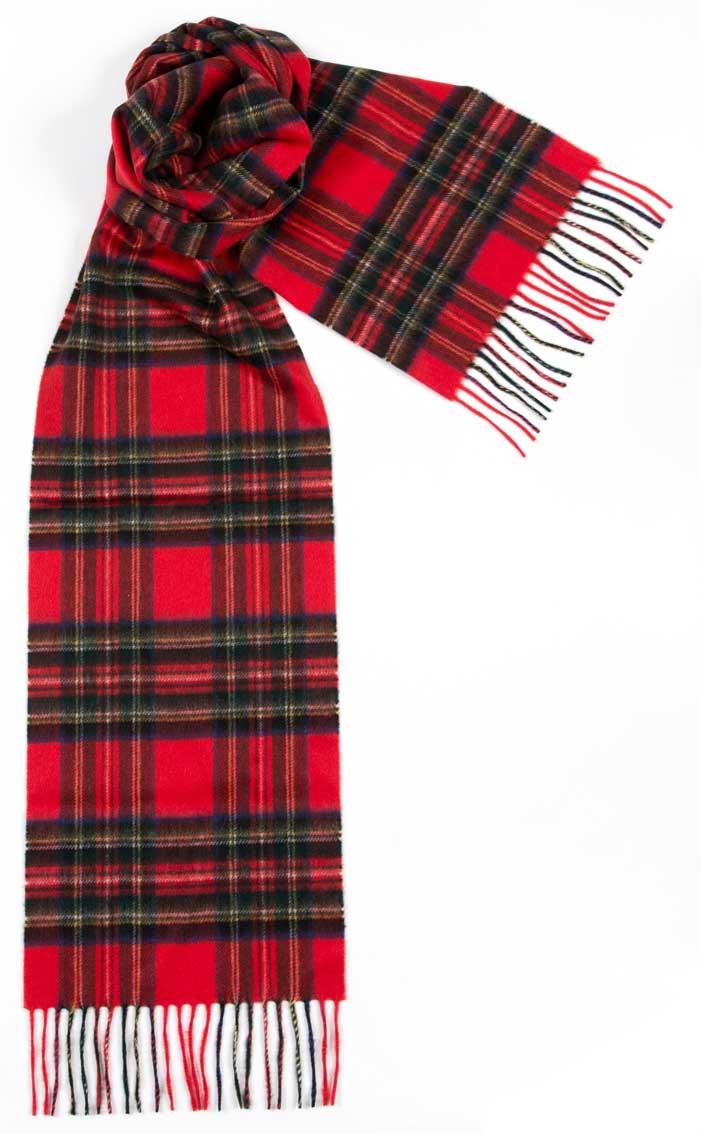 tartan scarves ... colour: royal stewart ... IJQHBTM