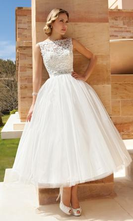 tea length wedding dresses demetrios dr193 4 SXTZSVB