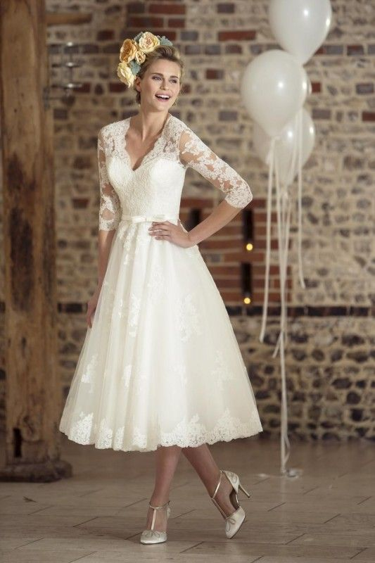 Tea Length Wedding Dresses True Bride Dress W325 Tlybfaz