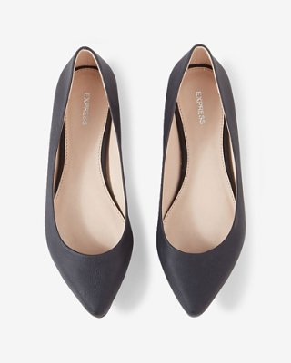 textured pointed toe flats | express TEGOOWW