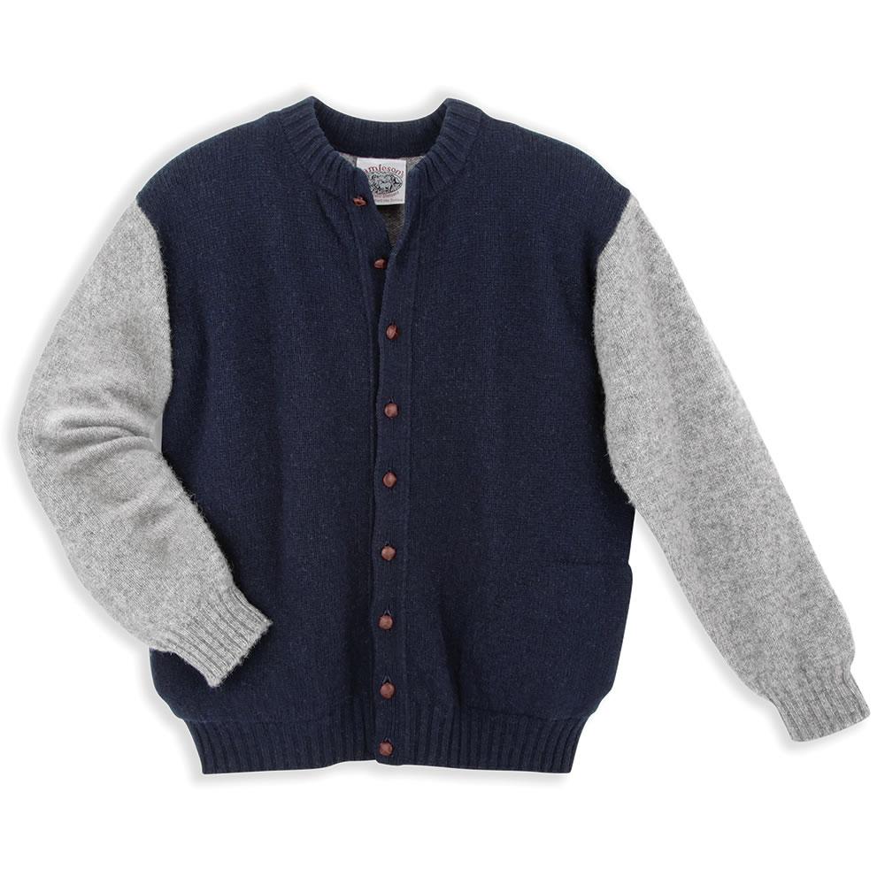 the genuine shetland wool varsity sweater. YXSMIBW