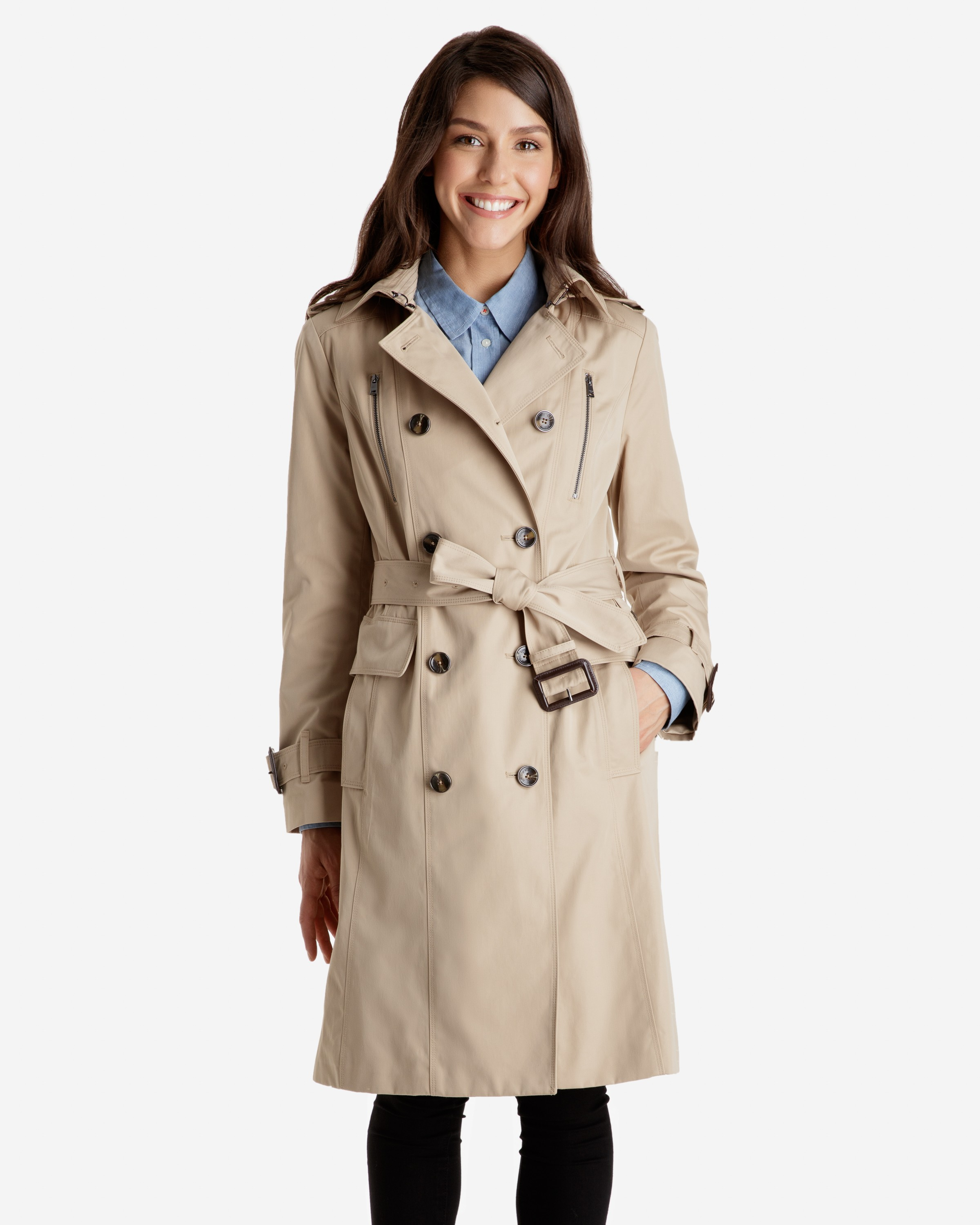trench coats for women harper double breasted heritage trench coat with detachable hood IJRSACI