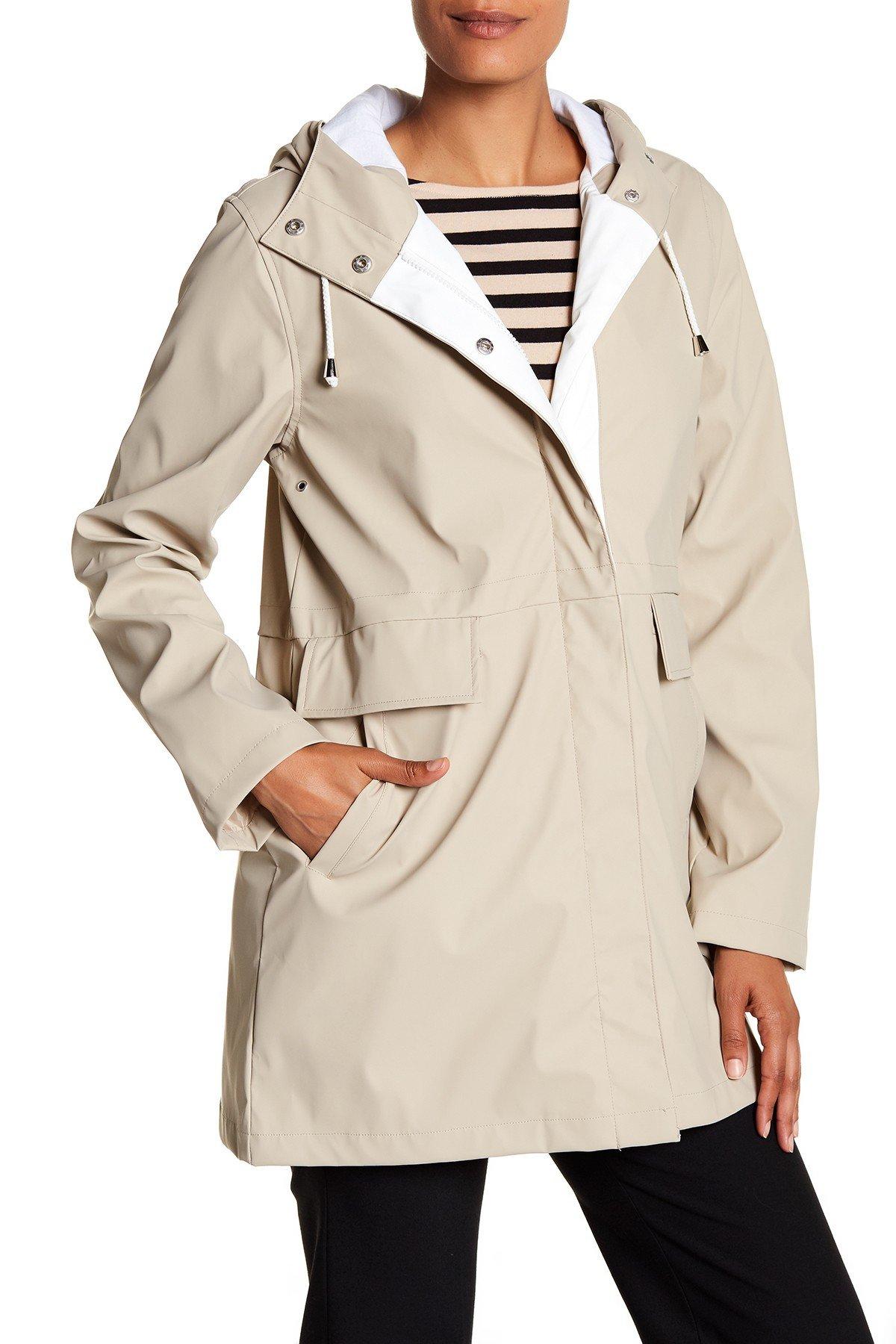 trench coats for women rachel rachel roy - hooded slicker AOAKHWZ