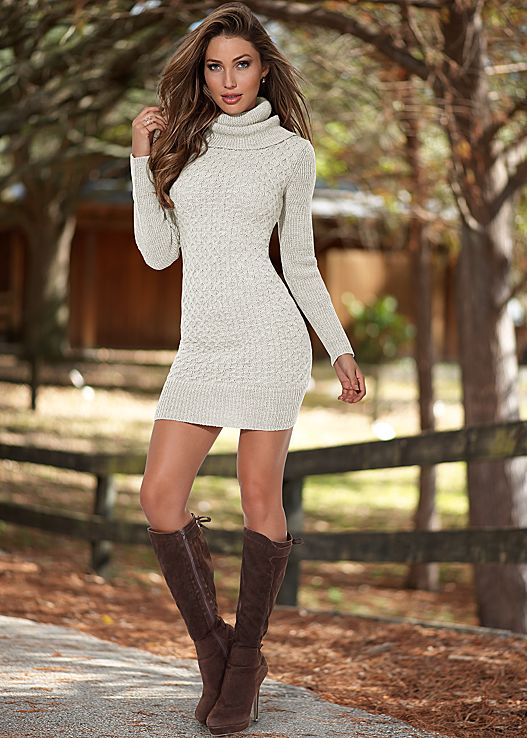turtleneck sweater dress BZCSAHC