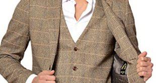tweed suits tweed suit mens-marc-darcy-designer-tan-tweed-herringbone- JKFXLSS