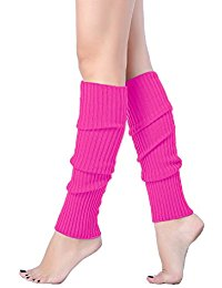 v28 women juniors 80s eightyu0027s ribbed leg warmers for party sports EELWANX